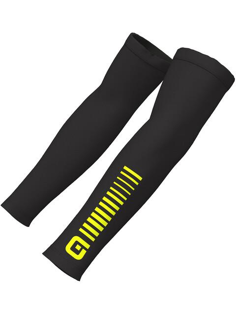 Alé Cycling Sunselect Armwarmers black flou yellow
